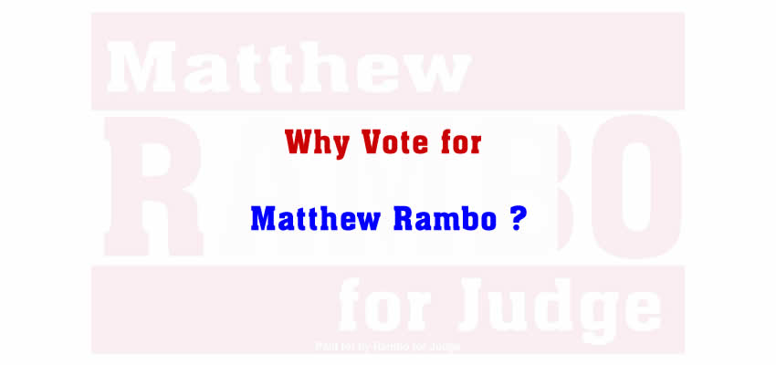 Why vote for Matthew Rambo